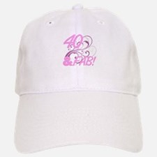40 And Fabulous (Glitter) Baseball Baseball Cap