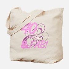 40 And Fabulous (Glitter) Tote Bag