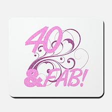 40 And Fabulous (Glitter) Mousepad