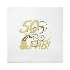 50 And Fabulous (Glitter) Queen Duvet