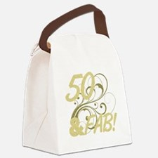 50 And Fabulous (Glitter) Canvas Lunch Bag