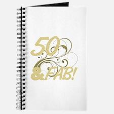50 And Fabulous (Glitter) Journal