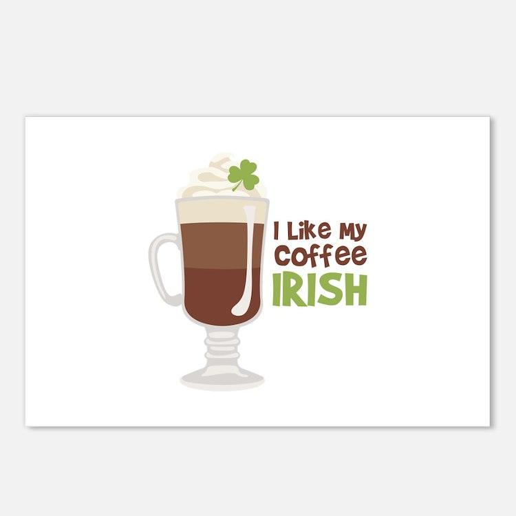 I Like My Coffee Irish Postcards (Package of 8)