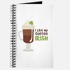 I Like My Coffee Irish Journal