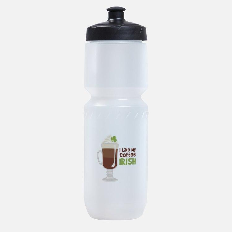 I Like My Coffee Irish Sports Bottle