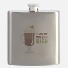 I Like My Coffee Irish Flask