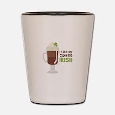 I Like My Coffee Irish Shot Glass