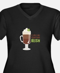 I Like My Coffee Irish Plus Size T-Shirt