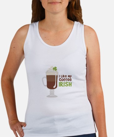 I Like My Coffee Irish Tank Top