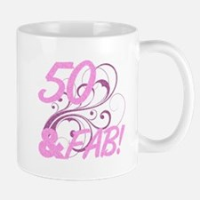 50 And Fabulous (Glitter) Mug