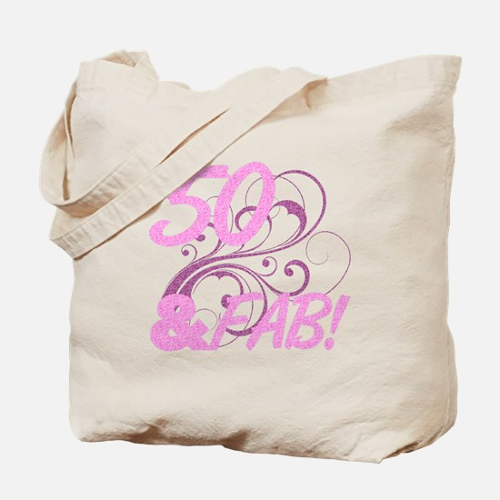 50 And Fabulous (Glitter) Tote Bag