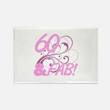 60 And Fabulous (Glitter) Rectangle Magnet