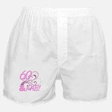 60 And Fabulous (Glitter) Boxer Shorts
