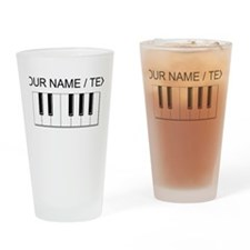 Custom Keyboard Keys Drinking Glass