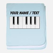 Custom Keyboard Keys baby blanket