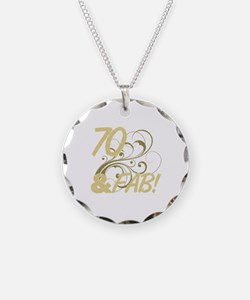 70 And Fabulous (Glitter) Necklace Circle Charm