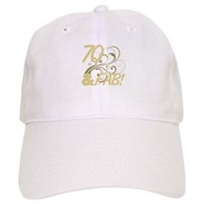70 And Fabulous (Glitter) Baseball Cap