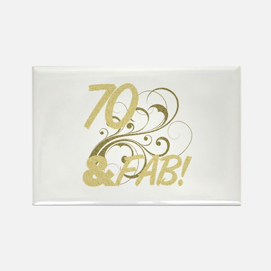 70 And Fabulous (Glitter) Rectangle Magnet