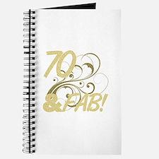 70 And Fabulous (Glitter) Journal