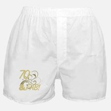 70 And Fabulous (Glitter) Boxer Shorts