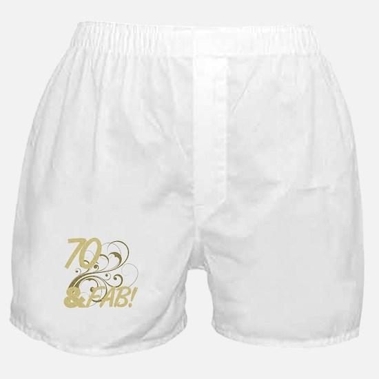 70 And Fabulous (Glitter) Boxer Shorts