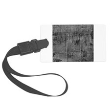 White rustic wood square textures Luggage Tag