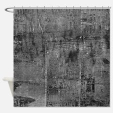White rustic wood square textures Shower Curtain