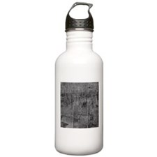 White rustic wood square textures Water Bottle
