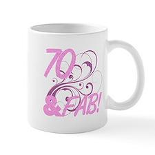 70 And Fabulous (Glitter) Mug