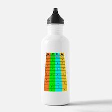Ukulele Frets And Notes Water Bottle