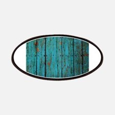 Teal nailed wood fence texture Patches