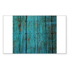 Teal nailed wood fence texture Decal