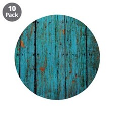 """Teal nailed wood fence texture 3.5"""" Button (10 pac"""