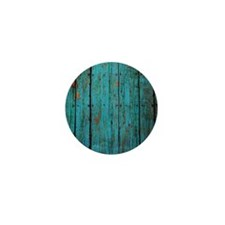 Teal nailed wood fence texture Mini Button (10 pac