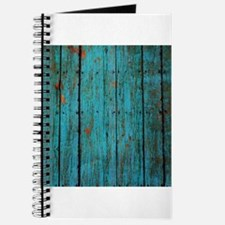 Teal nailed wood fence texture Journal