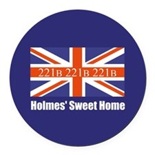 Holmes' Sweet Home Round Car Magnet
