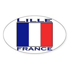 Lille, France Oval Decal