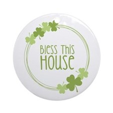 Bless This House Ornament (Round)