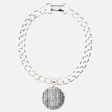 White nailed wood fence texture Bracelet