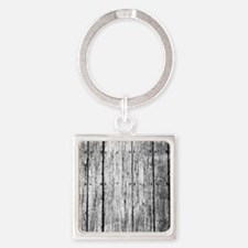 White nailed wood fence texture Keychains