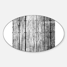 White nailed wood fence texture Decal