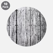 """White nailed wood fence texture 3.5"""" Button (10 pa"""