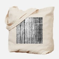 White nailed wood fence texture Tote Bag