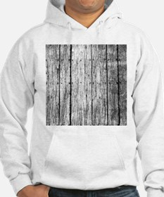 White nailed wood fence texture Hoodie