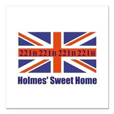 """Holmes' Sweet Home Square Car Magnet 3"""" x 3"""""""