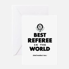 Best Referee in the World Greeting Cards