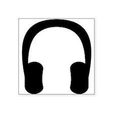 Black Headphones Sticker