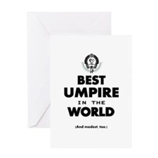 Best Umpire in the World Greeting Cards