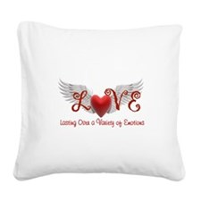 Lasting Over a Variety of Emotions Love Wings Squa