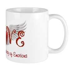 Lasting Over a Variety of Emotions Love Wings Mugs